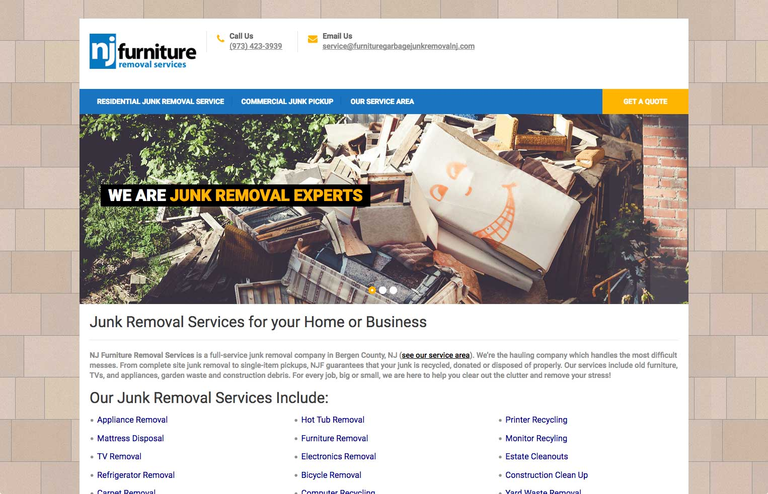 NJ Furniture Removal Services